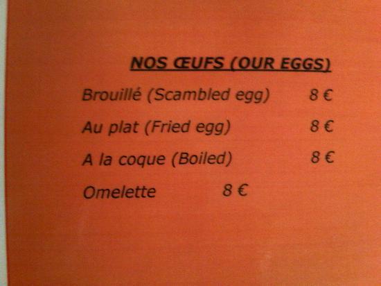 Ivan Vautier Hotel : Breakfast with 8 euros hard boiled eggs supplement!