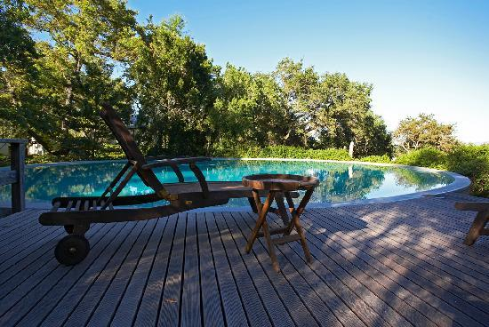 Bartholomeus Klip Farmhouse: The large saltwater pool