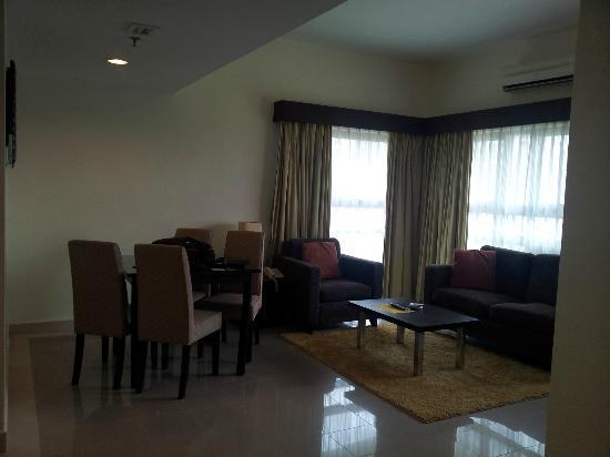 Crown Regency Serviced Suites: living area