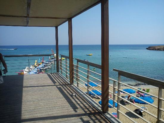 Fig Tree bay - part of the new walk way extending over the beach