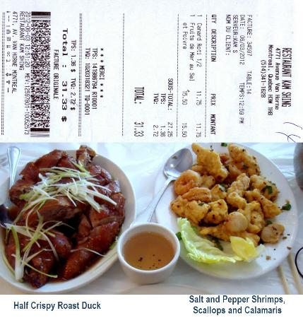 KAM SHING: June 2012 - Half Roast Duck and Salt and Pepper Seafood