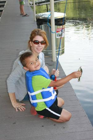 Candlewyck Cove Resort: my son's first catch!