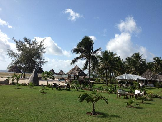 Kijiji Beach Resort: Looking onto the property from the shore.