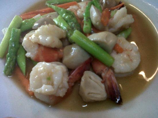 Onn Onn Corner Hua Hin: fried prawn veghe