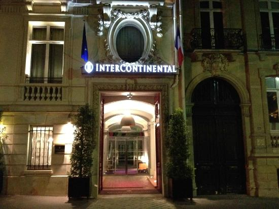 Intercontinental Paris Avenue Marceau Front Of Hotel