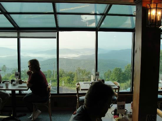 Big Lynn Lodge: part of the view from the dining area