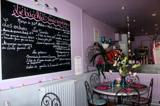 Inside Le Bacchus menu