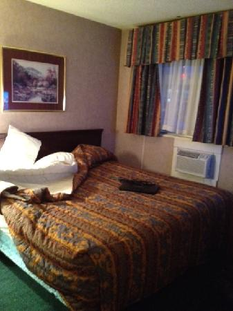 Econo Lodge Motel Village: Bedroom with king bed
