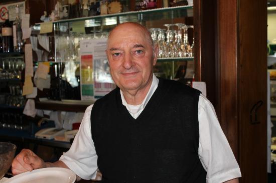 Ristorante Il Gabbiano: Signore Bruno Leskovec - der Chef des Hauses