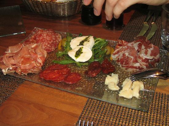 Osteria Bonomi in der Villa Behr: Italienische Antipasti