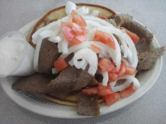 Grecian Island Restaurant: Extra meat Gyro (only $1. more)