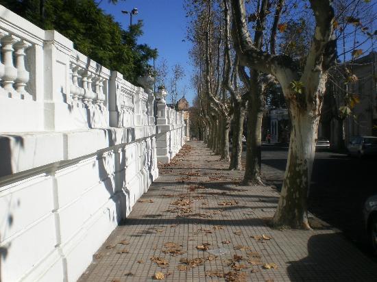 Avenida General Flores: Vereda Sur de la Plaza