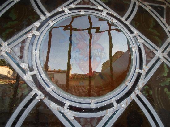 La Posada del Castillo B&B : Détail vitrail
