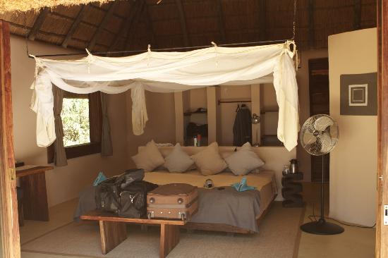 Luangwa River Camp: Our Roomand Bed