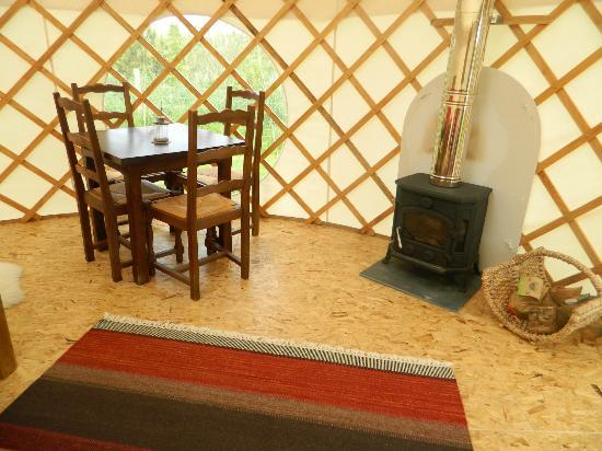 Ty Parke Farm Camping: Log burner