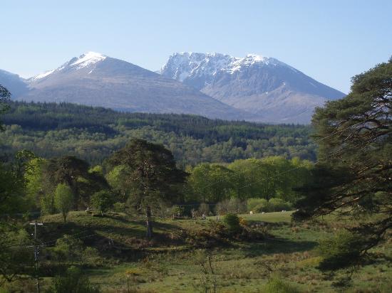 Strone Farm: view from garden