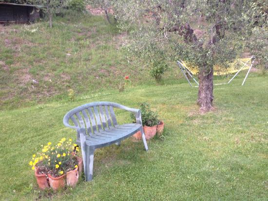 Casa Guaitoli: Uno scorcio del grazioso giardino