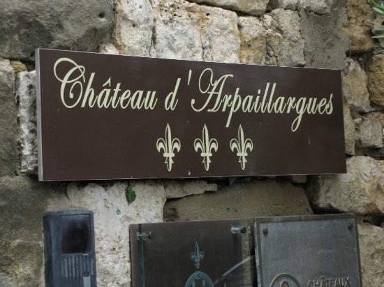 Château d'Arpaillargues : Entrance