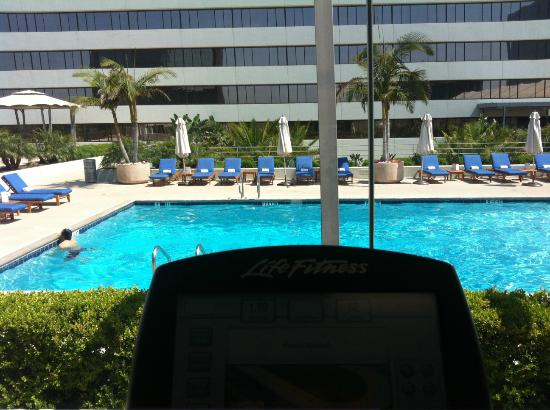The Westin South Coast Plaza: View from inside fitness center