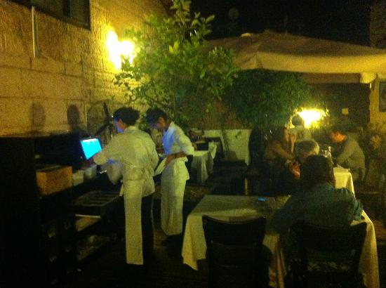 Neve Zedek - A place for meat: Outdoor patio