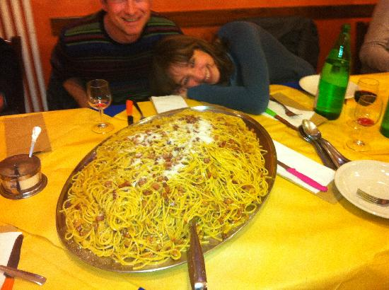 Cagli, Itália: carbonara classica
