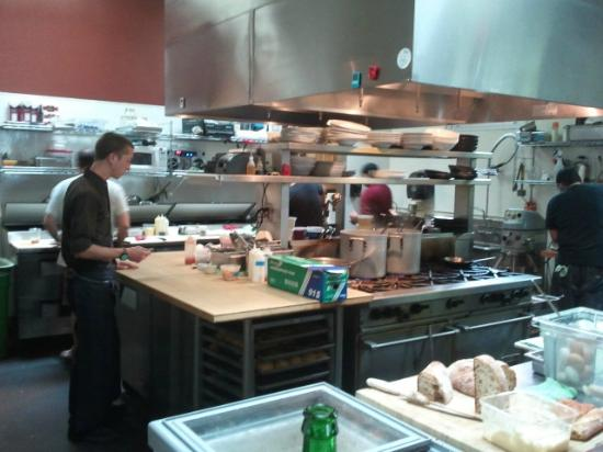 A view of the kitchen at Tabla