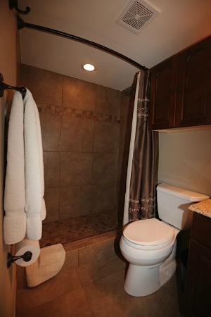 Gulf Shores Condominiums: Walk in shower