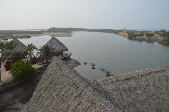 Hotelito Desconocido: View from the tower above the restaurant overlooking the lagoon