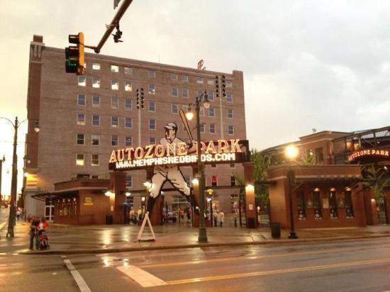 AutoZone Park: View of the Entrance