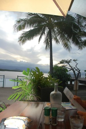The Beach Shack Restaurant : Dusk - the view from our table