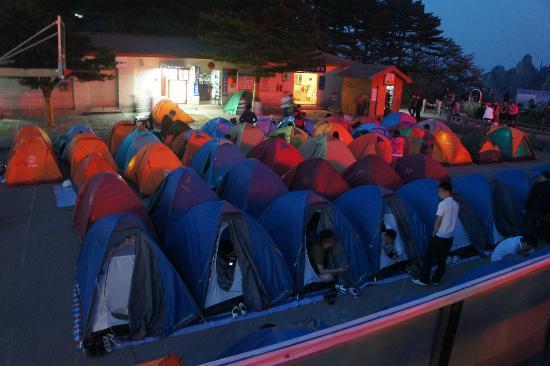 Mt Huangshan Yellow Mountain Tent Outside Beihai Hotel