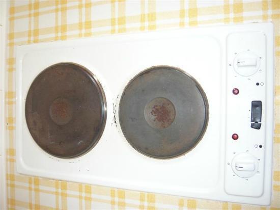 Residence Eden Roc: Les plaques chauffantes sont sales et encore garnies