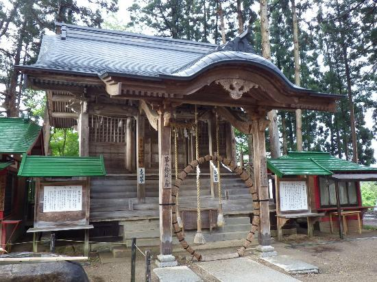 Hakusan Shrine: 白神神社の「茅の輪」