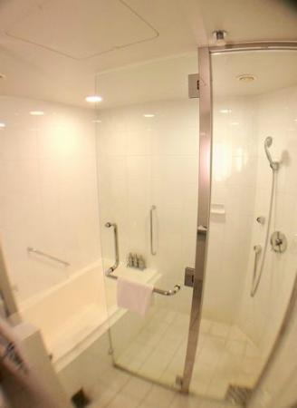 Hotel Trusty Tokyo Bayside: 下が切れてわかりにくいですが、左がバス、右がシャワー
