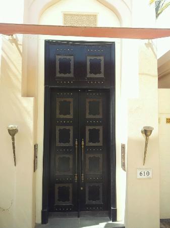 Al Areen Palace & Spa: main door of our desert villa.. Ali Baba Gate :-)