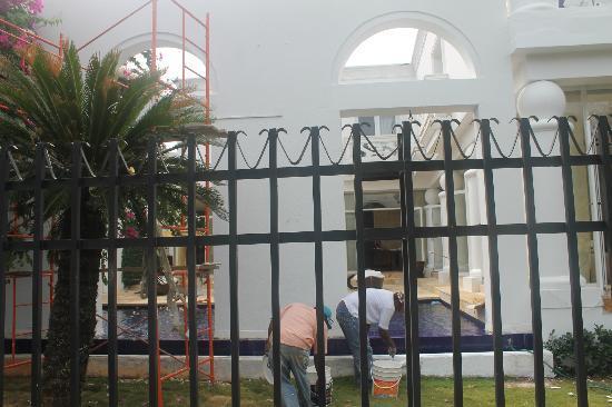 Hotel Casa Harb : trabajos de pintura durante la semana santa