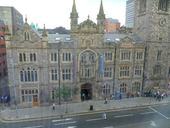 Jurys Inn Belfast: View of Spires Centre from a Victoria Street fronting room  window