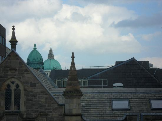 Jurys Inn Belfast: Zoomed view of roof tops