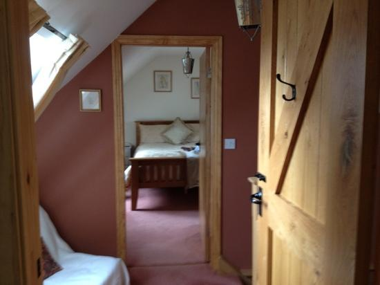 Broadgate Farm Cottages: view to master bedroom