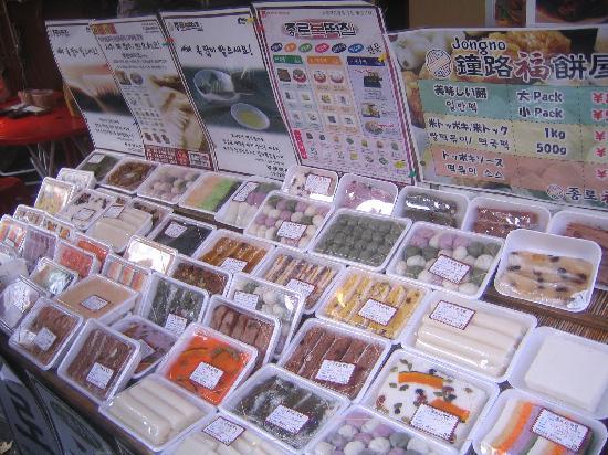 Σιντζούκου, Ιαπωνία: カラフルな韓国のお餅もたくさん
