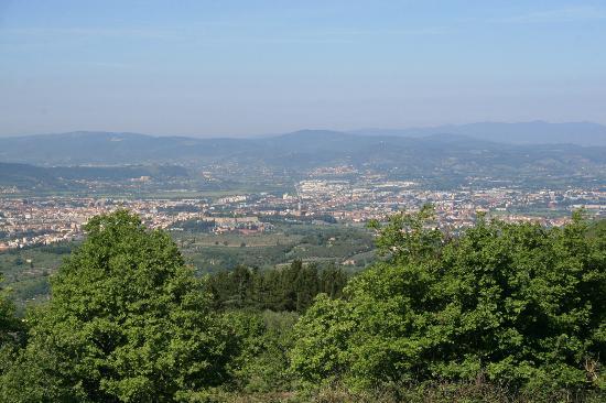 Hotel Badia di Pomaio: view from Room 2 (Rosa)