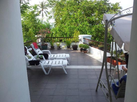 Sea Star House: Fra lejligheden - udsigt til terrassen