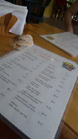 El Cafecito: Menu