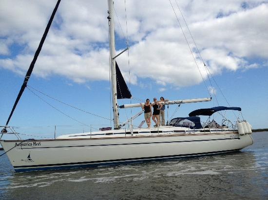 Charleston Sailing School: on the hook at Steamboat Creek