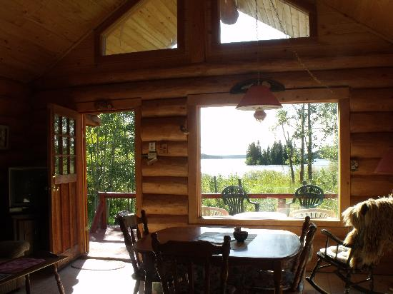 Nimpo Lake Resort: view from the Loon cabin