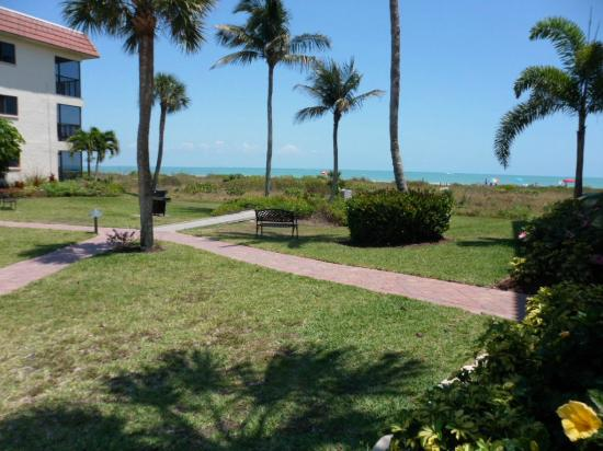 Sandalfoot Condominium: View from complex to beach