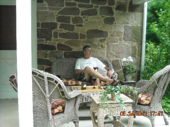 Kimmell House: Mark on the patio.