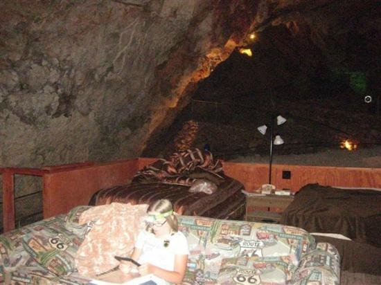 """Grand Canyon Caverns Inn: View from """"sitting area"""" in Cavern Suite"""