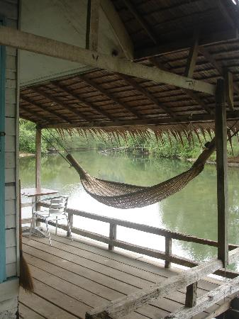 บลูลากูน: terrasse du bungalow