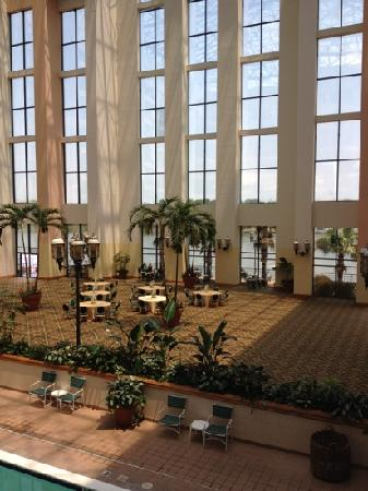 Savannah Marriott Riverfront: atrium looking out onto river